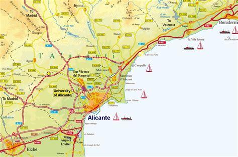 map of alicante area alicante mapa ciudad de la regi 243 n
