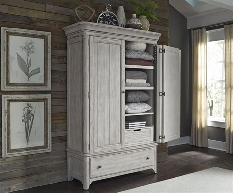 08 Farmhouse Multifunction Wardrobe farmhouse reimagined antique white armoire from liberty coleman furniture