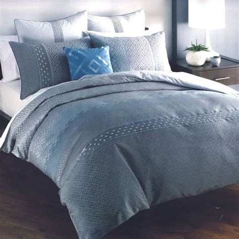 Blue And Grey Duvet Covers 6 p santino grey silver blue jacquard weave quilt doona duvet cover set ebay