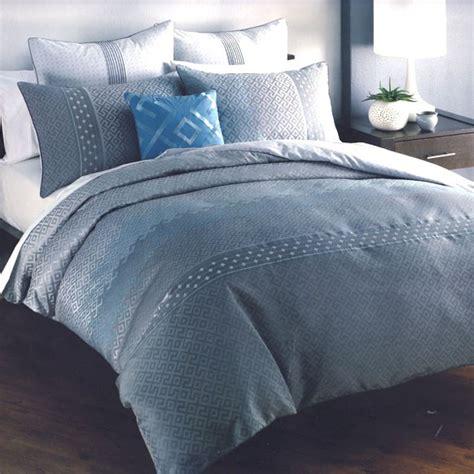 Blue Grey Duvet Cover 6 p santino grey silver blue jacquard weave quilt