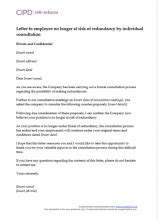 letter informing employee position cipd hr