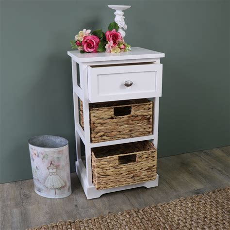 white wicker bathroom drawers white wood wicker 3 drawer basket chest of drawers bedroom