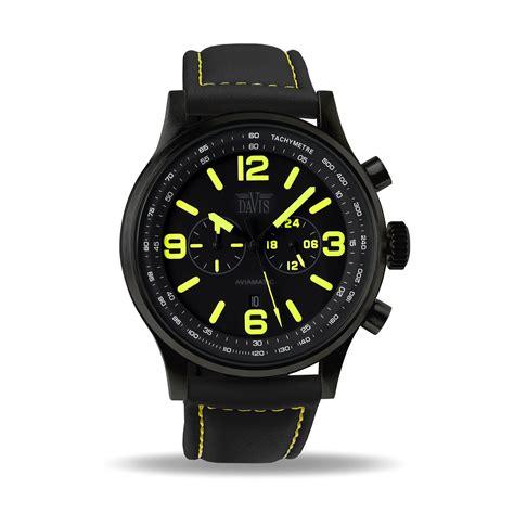 montre militaire homme jaune chronographe etanche 50m bracelet lorica davis 1840