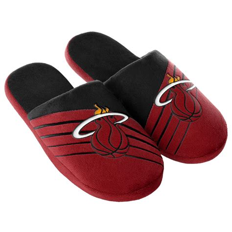miami heat slippers nba s miami heat black slippers kmart