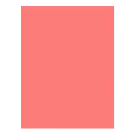 pink coral color coral pink color trend blank template postcard