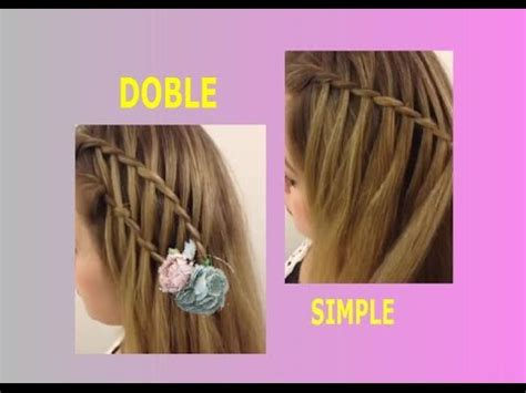 como hacer una trenza de cascada youtube como hacer trenza de cascada simple y doble youtube