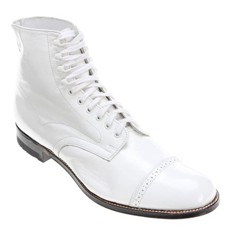 mens white boots leather new mens white leather ankle boots