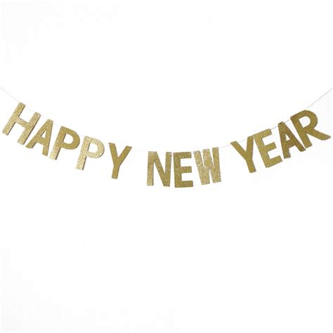 happy new year banner happy new year gold glitters letter banner daydream