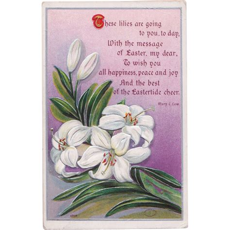 the porcelain doll poem antique easter postcard with c low poem from