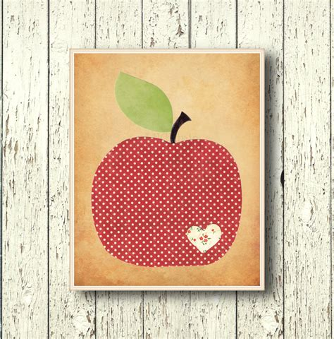 Apple Wall Decor by Apple Family Decor Kitchen Wall Decor By Lilchipie On Etsy