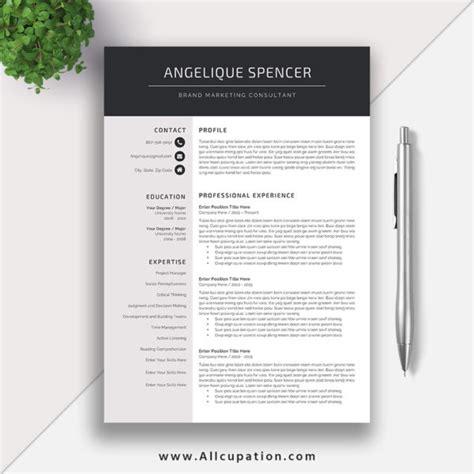 contemporary resume templates for mac creative resume template modern cv template word cover