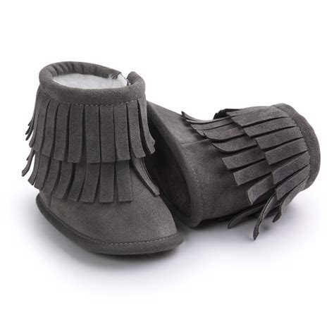 Baby Boot winter children warm boot baby shoes baby fur soft soled booties with tassel in boots