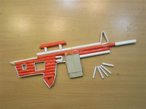 How To Make A Pistol Out Of Paper - how to make a paper sniper rifle shoots 5 bullets