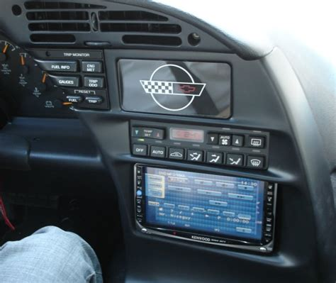c4 corvette stereo upgrade lcd car stereo screens in a c4 corvetteforum chevrolet