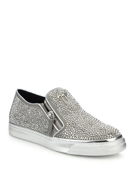 giuseppe sneakers for giuseppe zanotti adam embellished slip on sneakers in