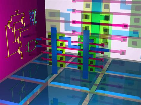 cmos mask layout design nand gate transistor design and cmos gate array