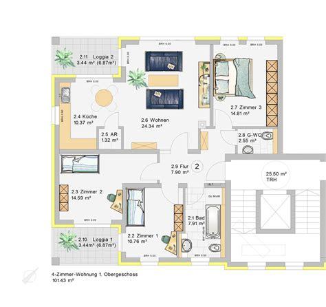 wohnung 4 zimmer 4 zimmer wohnung im 1 obergeschoss w2 klia wohnpark