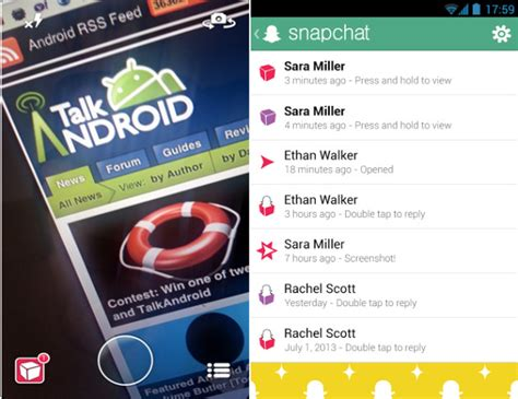 android snapchat update snapchat receives new ui snapkidz in update talkandroid
