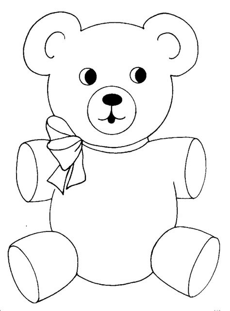 Free Printable Teddy Bear Coloring Pages For Kids Colouring In