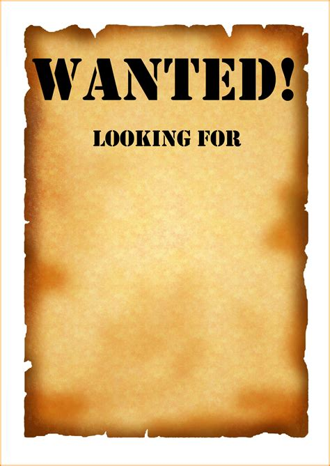 blank wanted poster paper 4 jpg letter template word