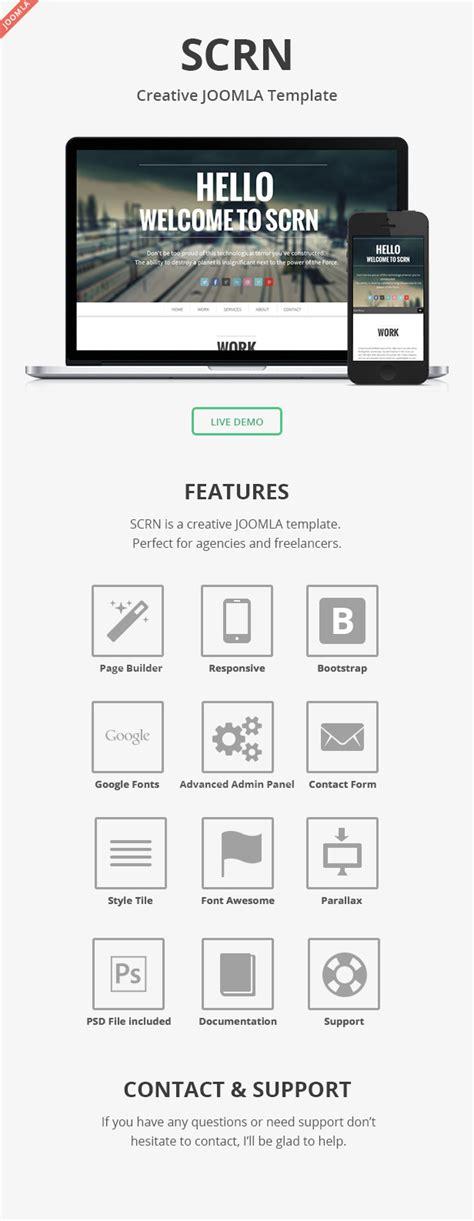 layout builder joomla scrn responsive parallax joomla template themeforest