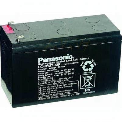 Baterai Kering 12volt 150ah panasonic lc r127r2p 12v 7 2ah vrla backup battery