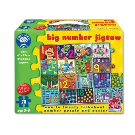 Large Floor Puzzle Numbers Words Hinkler giddy for and potty for puzzles junction does
