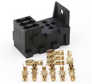 polevolt ltd 3 way interlocking fuse box plus 1 relay socket terminals