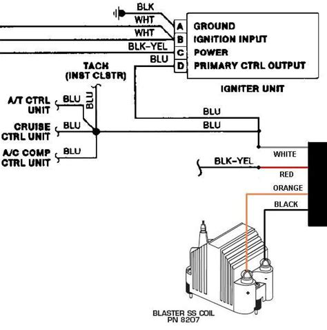 msd blaster ss coil wiring diagram msd wirning diagrams
