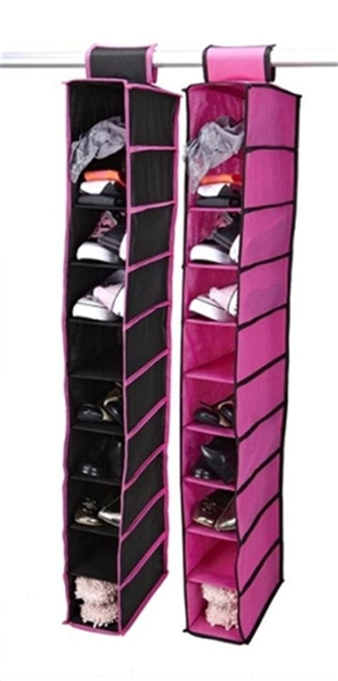 college shoe storage hang shoes and other supplies black fuchsia 10
