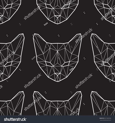 pattern low poly vector vector seamless pattern with low poly cats 321602330