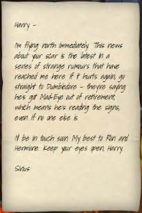 sirius black s letter to harry potter 1994 ii harry