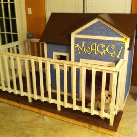 inside dog houses this was a fun project indoor dog house with fenced in yard for your indoor dogs