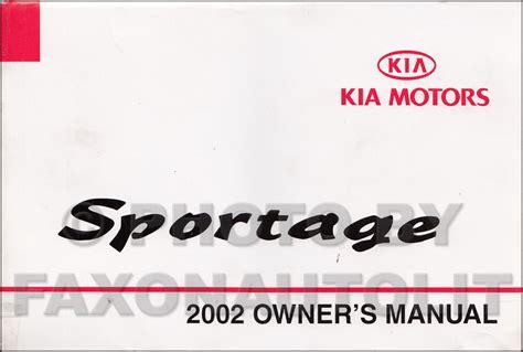 2002 Kia Sportage Repair Manual 2002 Kia Sportage Repair Shop Manual Original
