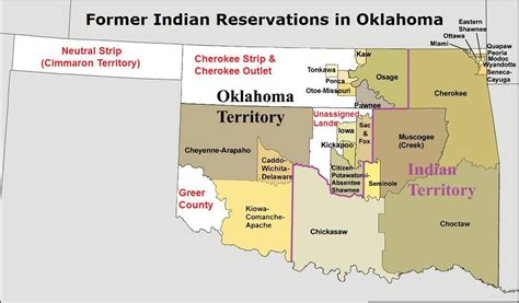 map us indian reservations former indian reservations in oklahoma