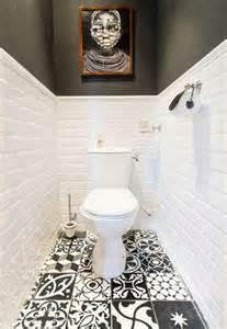 D 233 co wc noir et blanc et carrelage sol motifs patchwork
