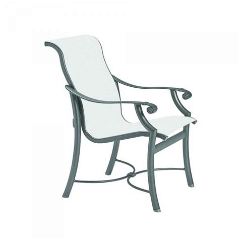 tropitone patio chairs tropitone montreux sling dining chair leisure living