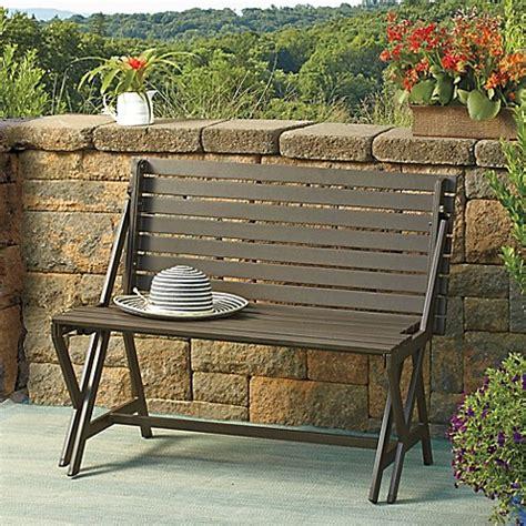 picnic table bench convertible metal convertible picnic table bench www bedbathandbeyond com