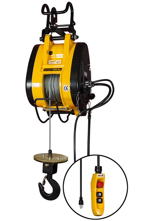lb capacity electric hoist cable  ft lift