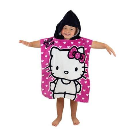 poncho handdoek hello kitty poncho charactersmania nl