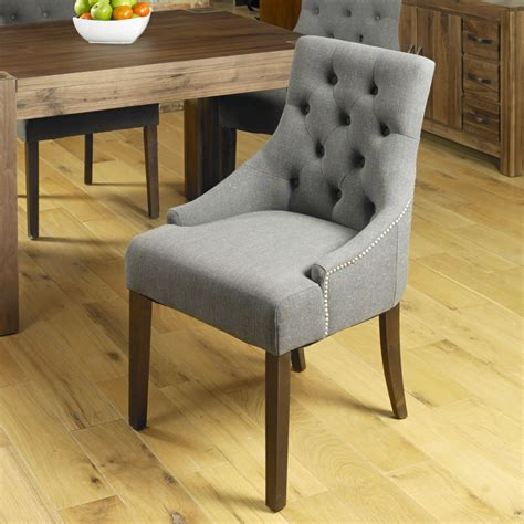 Dining Upholstered Chairs Solid Wood Furniture Set Of Four Upholstered Dining Chairs Ebay