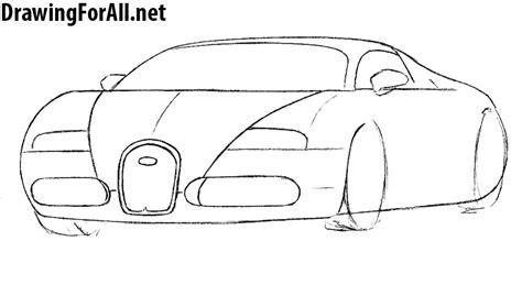 how to draw sports car draw step by step how to draw a bugatti drawingforall net