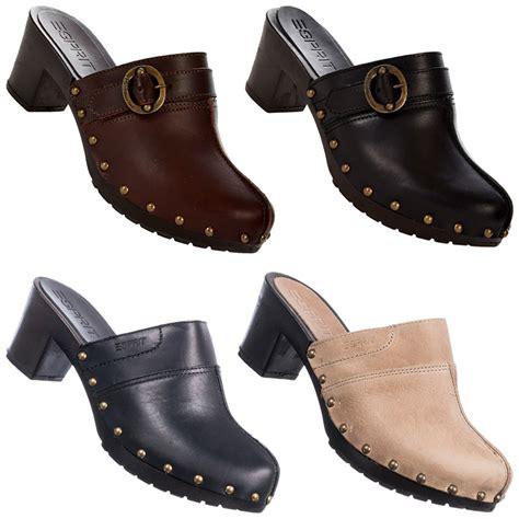 Clogs Damen Leder by Esprit Amin Buckle Mule Damen Clogs S10920 Pantolette 37