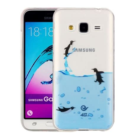 for samsung galaxy j3 2016 j310 lovely penguins pattern imd workmanship soft tpu protective