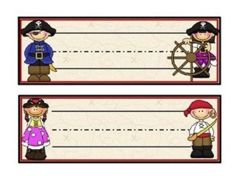 printable pirate name tags 6 best images of free printable pirate name plates free