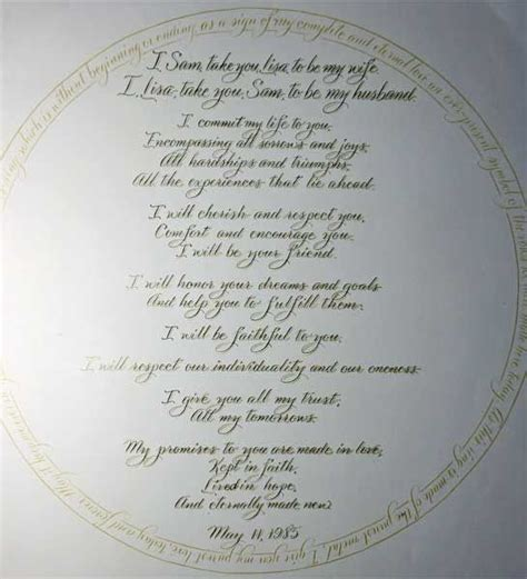 Wedding Vows by Christian Wedding Vows On Traditional Wedding