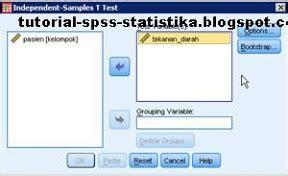 tutorial spss adalah belajar spss dan statistika uji t 2 sel bebas