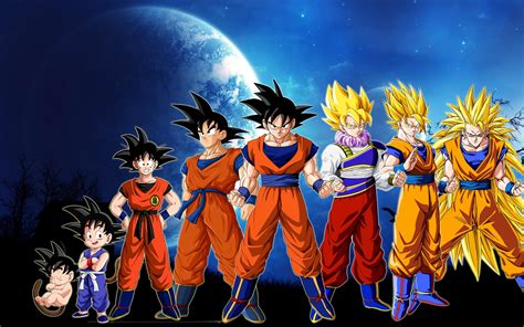 Dragonball Evolution Goku Wallpaper | moon son goku evolution dragon ball z super saiyan