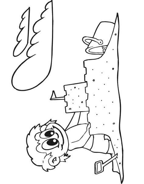 coloring page of sand castle sand castle coloring pages coloring home