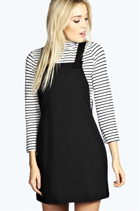 gingham frill ankle socks simple accessories and comfortable work school chic in this classic pinafore dress
